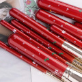 10Pcs Christmas Red hochwertige Make-up Pinsel