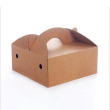 Handgemachte Wellpappen-Papierkuchen-Verpackungshandbox
