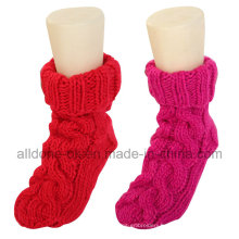 Wholesale 100% Hand Knitted Indoor Floor Socks Slippers