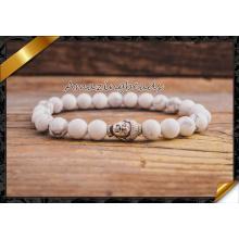 Weißer Türkis Armbänder Howlite Buddha DIY Schmuck (CB040)