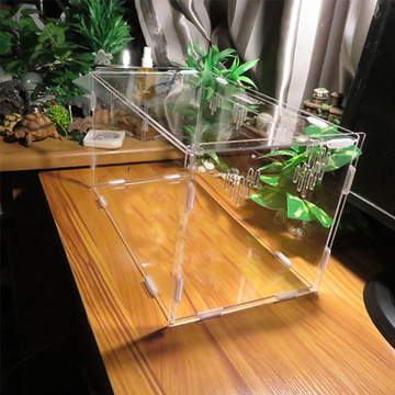 Acrylic Pet Reptile Cage Alimentación Reproducción Box