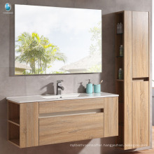 Wholesale plywood wall mouted bathroom sink base vanity with cabinet mirror