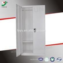 armário de aço metal com cabide e prateleiras