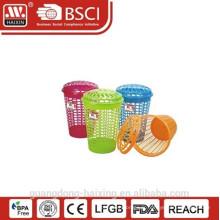 Panier de basket(57L)/blanchisserie blanchisserie plastique Popular & bonne qualité avec couvercle
