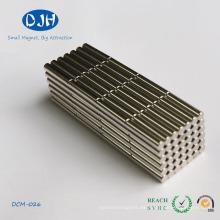 Cilindro Materiales de tierras raras Neodymiun Iron Boron Magnet