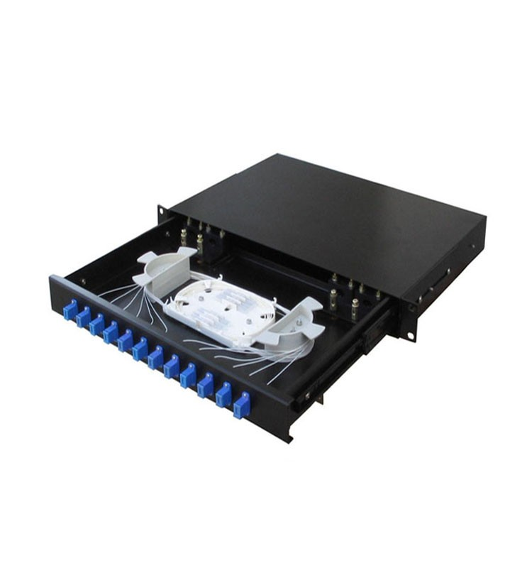 12 Port Rack Mount Fiber Cable Patch Panel