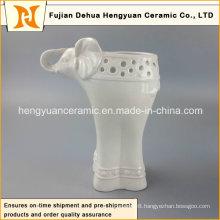 Household Decorations Ceramic Elephant Shape Vase (Garden Decoration)