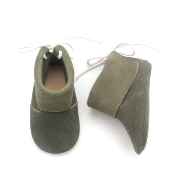 Borong Glory Boots Cute Handmade Green Ankle Boots