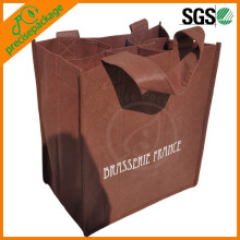 Bolso no tejido durable del vino del paquete 6 con el logotipo modificado para requisitos particulares