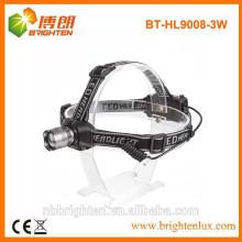 Fabrik liefern hohe Leistung 3w cree LED Scheinwerfer Zoom Scheinwerfer 150lm Ausgang 3AAA