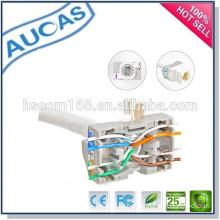 cat5e UTP network module keystone jack/keystone module modular plug/90 degree toolless modular jack/