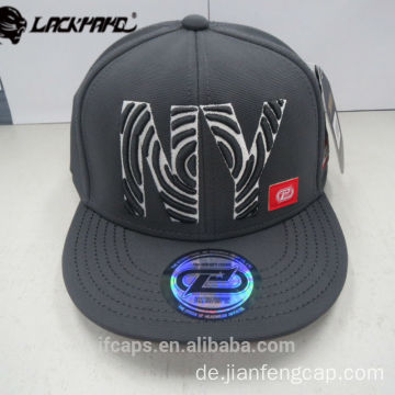 3D Stickerei 6 Panel Snapback Hip Hop Cap