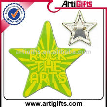 Cheap promotion star shape tinplate button badges