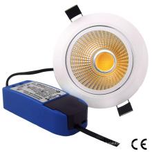 15W COB LED Dimmable Luz abajo LED Luz de techo Panel LED