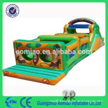 Nouveau parcours d'obstacles gonflable cours de chantier gonflable pour train d'obstacles pour enfants / adulte