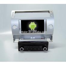 Quad core! Dvd do carro com link espelho / DVR / TPMS / OBD2 para 7 polegadas tela sensível ao toque quad core 4.4 Android sistema CITROEN C4 (Prata)