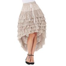 Белль остановить поиски женщины Леди Амелия стимпанк упругие талии Раффлед кружева торт юбка BP000221-1
