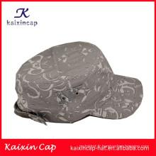 fabricant promotion mode bord incurvé desigh vos propres chapeaux gris de l'armée et chapeaux top qualité en gros