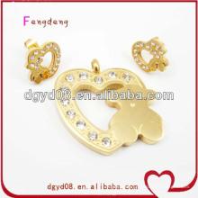 2014 wholesale real gold fashion jewelry cheap jewelry set