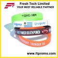 Оптовый браслет силикона цвета чисто с вашим логосом