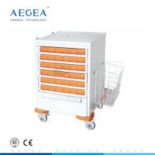 AG-MT036 Drug large capacity hospital nurse used movable medical supply cart