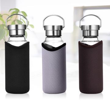 Стеклянная бутылка воды с высокой изоляцией Крышка