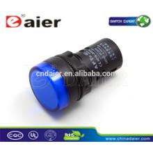 lámpara indicadora ad22-22ds; luces indicadoras automotrices; biseles led cromados