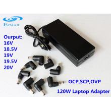 120W Universal AC Adapter Laptop fonte de alimentação Adaptador para laptop