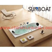 Eingebaute Badewanne aus emailliertem Stahl