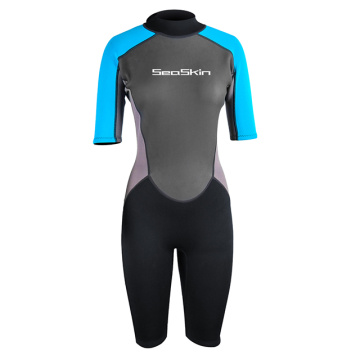 Traje de neopreno Seaskin Back Zip Shorty 2 mm para buceo