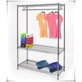 Home Bedroom Adjustable Metal Wardrobe Rack