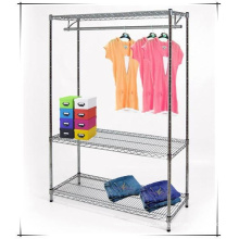 Home Bedroom Adjustable Metal Wardrobe Rack