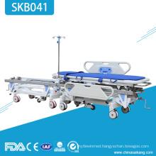 SKB041 Stainless Steel Medical Emergency Patient Trolley
