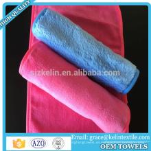 Maquillaje de toalla de microfibra 100% microfibra rosa y negro
