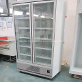 refrigerador de exhibición del refrigerador de dos puertas de vidrio