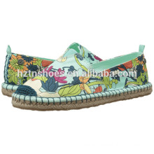 Jute Sole Printed Espadrille Ladies Fancy Flat Casual Shoe