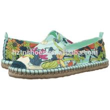 Jute Sole Impresso Espadrille Ladies Fancy Flat Casual Shoe