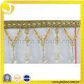 Home Textile Beads Polyester Tassel Fringe High Quality