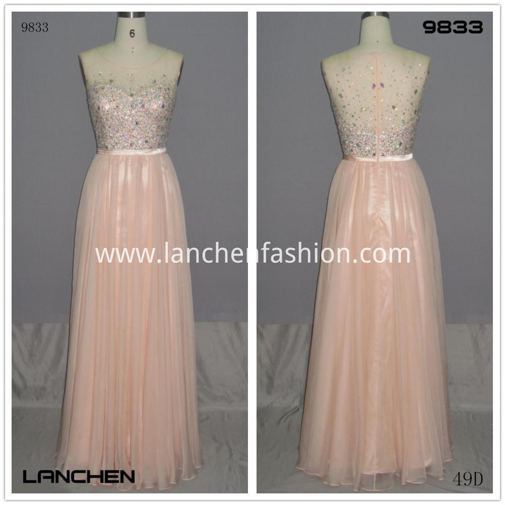 peach color prom dress