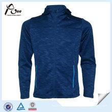 Voller Reißverschluss-Vlies-Polyester-preiswerter Großhandelsmänner-Sport-Jacken