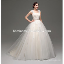white sexy see through high-neck floor length appliqued long wedding dress fabrics with tail