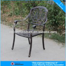 Chaise en aluminium moulé de meubles de jardin