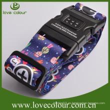 Custom Adjustable Travel Promocional Colorido buena calidad Combinación cerradura de equipaje de la cerradura