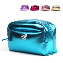 Ladies Women PU Leather Perfume Cosmetic Makeup Toiletry Travel Bag Women Purse Multi Colors
