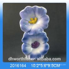 Azul de diseño de flores de humidificador de aire de cerámica para la habitación