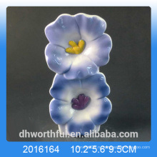 Синий цветочный дизайн керамический увлажнитель воздуха для комнаты