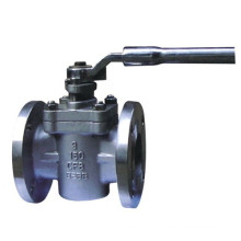 China Factory PTFE Sleeve Flange Stainless Steel Plug Valve