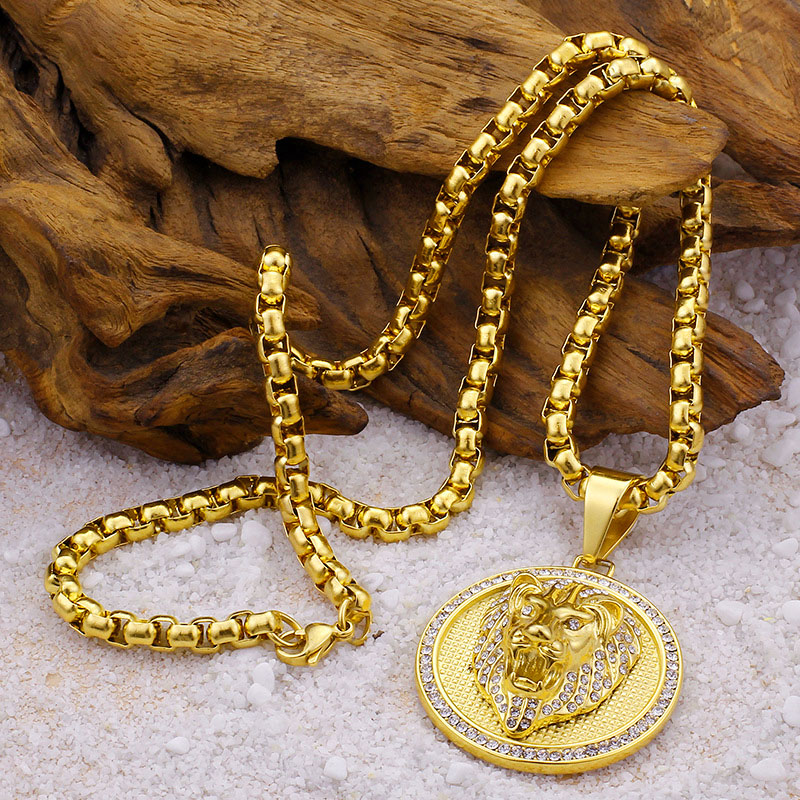 Lion Necklace Mens
