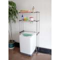Prateleira de aço inoxidável extensíveis máquina de lavar roupa