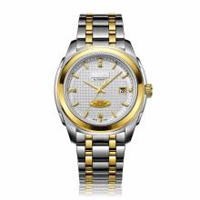 Relógio de pulso automático Crafted fino para homens em 2tone Colors